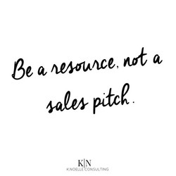 A resource not a sales pitch