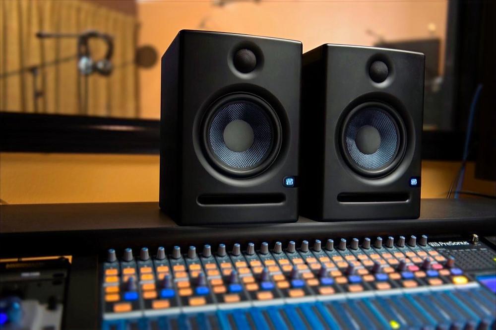 "Presonus Eris 5"" namely Presonus E5, studio monitors speakers"