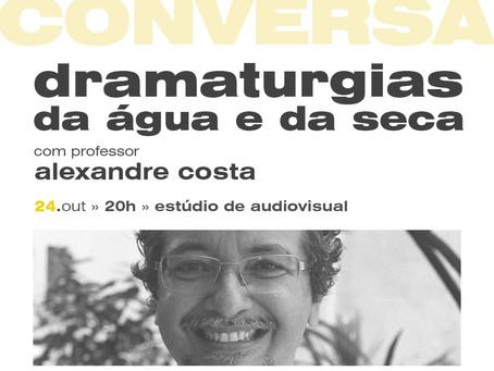 """Laboratório de Teatro realiza Roda de Conversa """"Dramaturgias da Água e da Seca"""" com Alexandre Costa"""