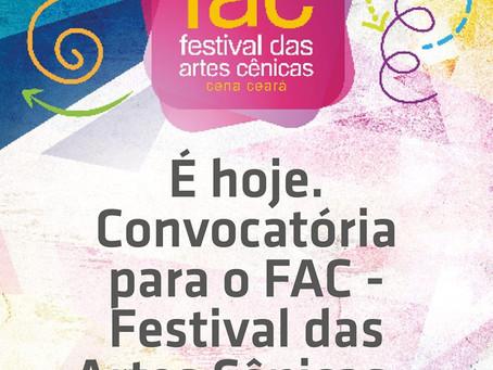 Vem aí o FAC - Festival das Artes Cênicas - Cena Ceará 2019!