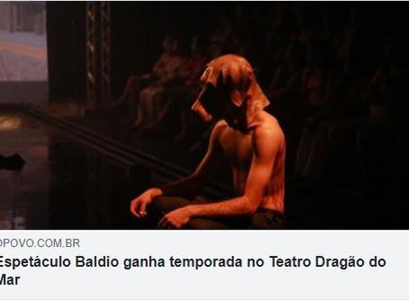 """Saiu na mídia - Espetáculo """"Baldio"""" ganha temporada no Teatro Dragão do Mar"""