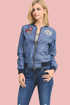 Denim Patch Up Jacket
