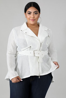 Netted Short Trench Jacket