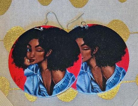 Denim Girl Earrings