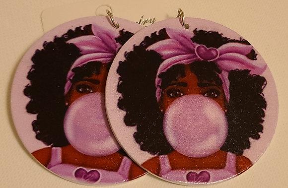 Bubble Gum Baby Earrings