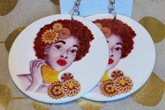 Dirty Red Fro Earrings