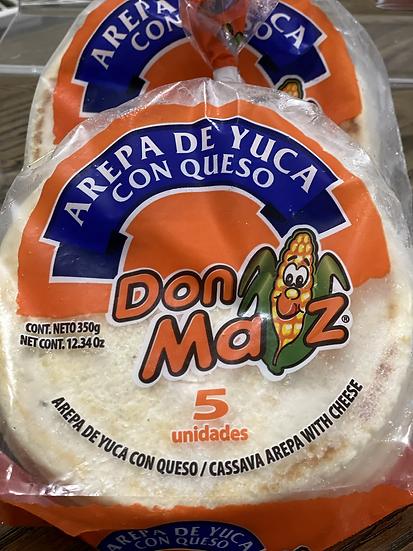 Arepas de Yuca con Queso 350gr /Cassava Arepas with Cheese