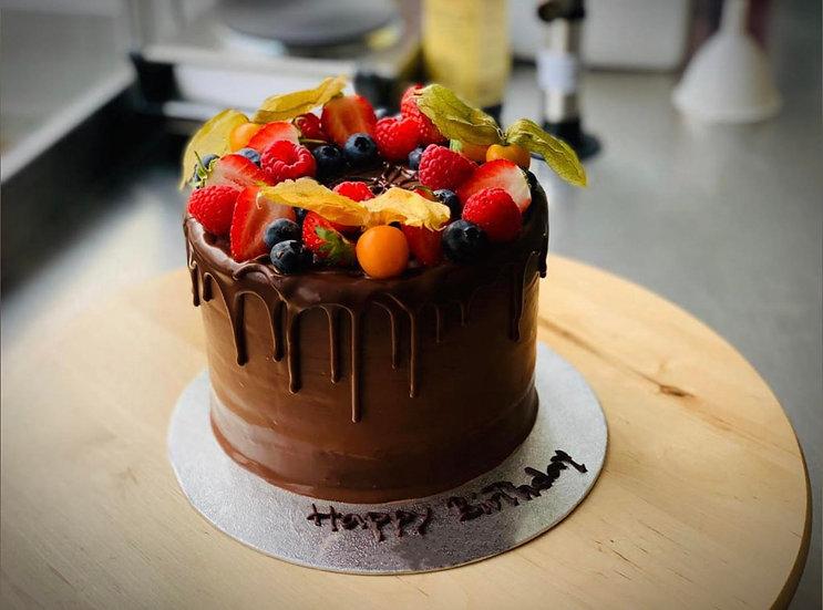 Chocolate and Wild Berries Cake