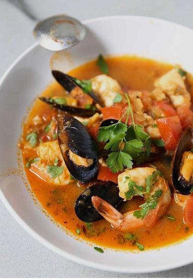 Sea food soup   / Fosforera ( 600ml - 750ml )