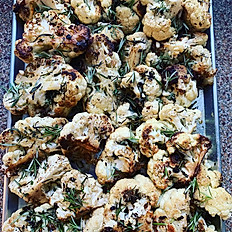pan-seared herb cauliflower