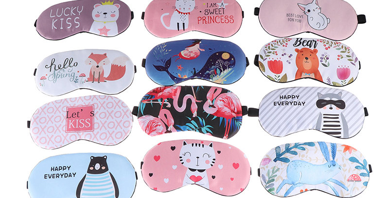 1pc Sleeping Mask  Eye Cover Cotton Creative Cartoon Patterns