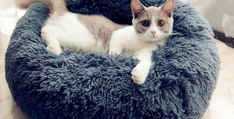 Soft Plush Round Cat Beds