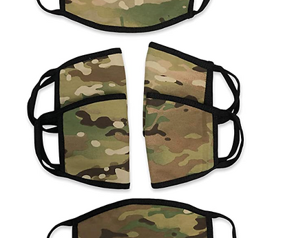 MADE IN USA Face Masks in CAMO