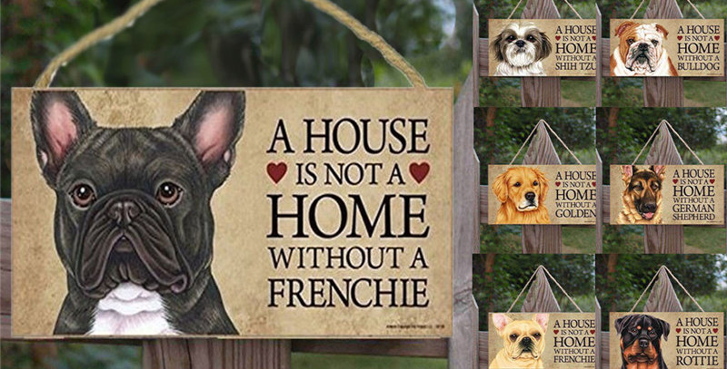 Dogs Garden Home Wood Decoration
