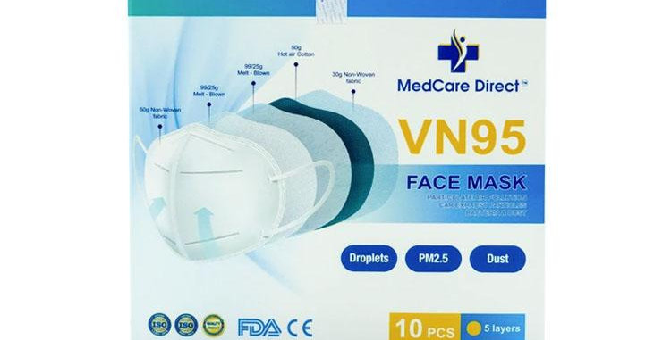 Single Wrap VN-95 | 5 Layers of Protection | 10Pcs/ Pack | @MedCare Direct