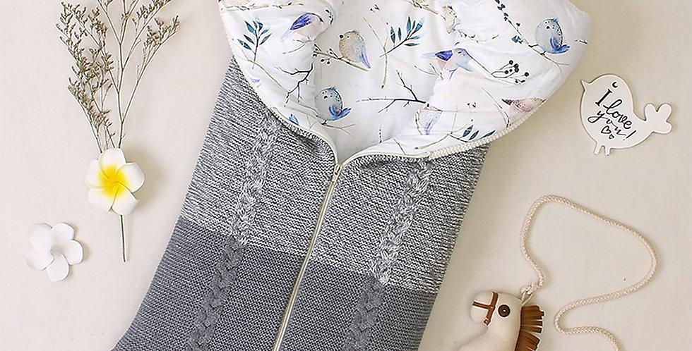 Baby Sleeping Bag for  Stroller Sleepsacks Winter Warm Swaddle Wrap Knitted