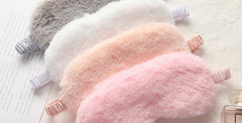 Soft Plush Sleeping Eye Masks Cloud Cover Rabbit Nap Health