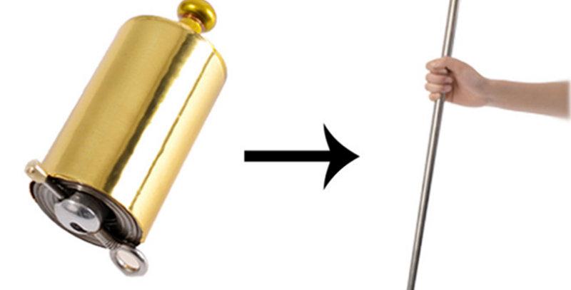 Gold 110cm/150cm Portable Telescopic Rod Martial Arts Metal Staff