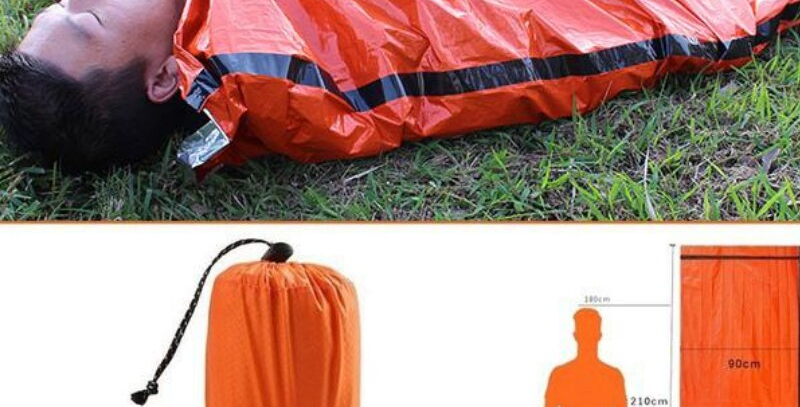 Camping Emergency Sleeping Bag Thermal Waterproof  First Aid Safety & Survival