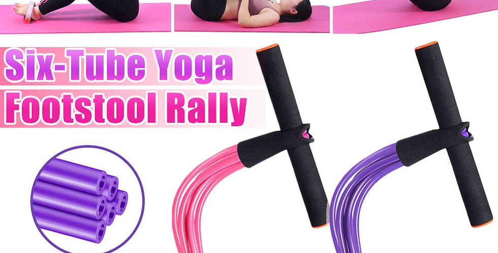 6 Tube Elastic Fitness Resistance Bands Exercise Equipment
