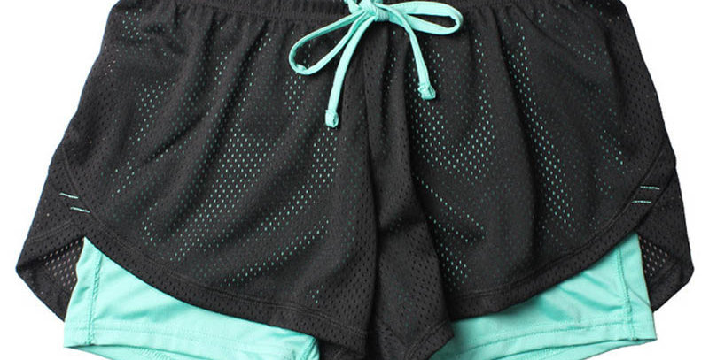 Summer Double Layer Fitness Shorts Women's