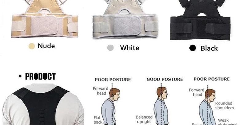 Aptoco Magnetic Therapy Posture Corrector Brace Shoulder Back Support Belt