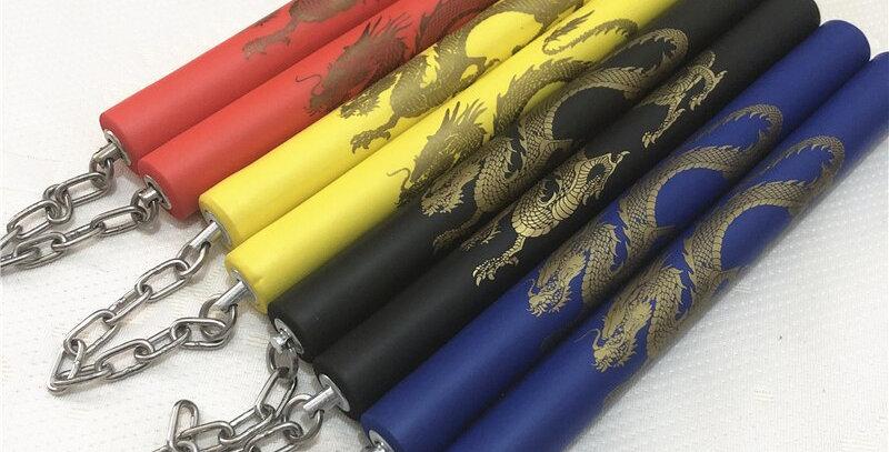 Martial Arts Nunchaku Foam Dragon Pattern