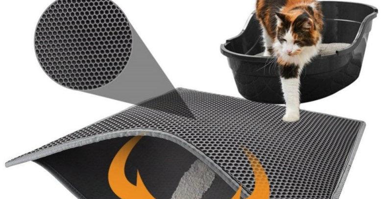 Pet Cat Litter Mat Waterproof EVA Double Layer Trapping Mat Litter Box