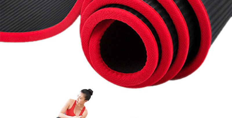Jusenda Yoga Mat 6'x2' NBR Fitness Gym Sports Tear Resistant with Bag & Strap
