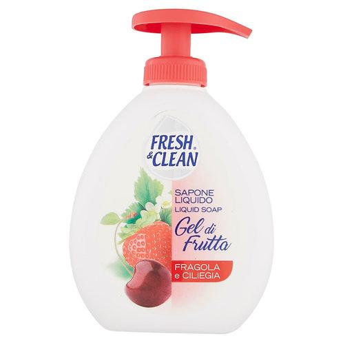 Săpun lichid Fresh & Clean cu fragi si cirese 300 ml