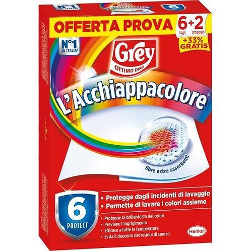 Servetele Captare culori Pentru Masina De Spalat Grey L'Acchiapacolore 6+2 Folii