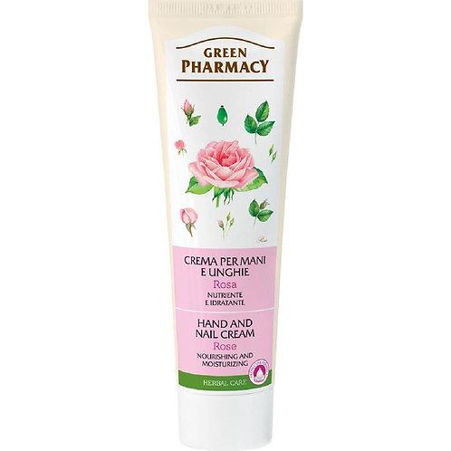 Crema de maini si unghii cu extract de Trandafir,100g,Green Pharmacy