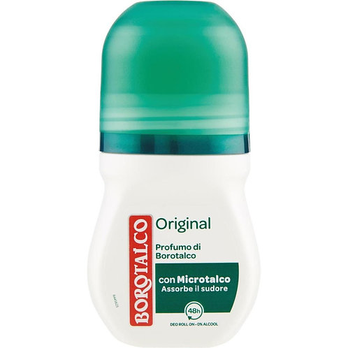 Deodorant Borotalco, Roll-On, Original 0% Alcool, 50 ml