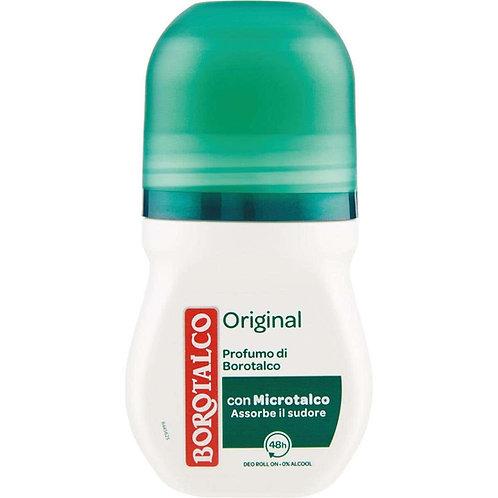 Deodorant Roll-On,Borotalco,Original,0% Alcool, 50 ml
