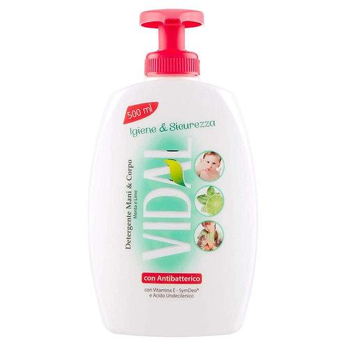 Sapun lichid,Vidal,antibacterian 500 ml