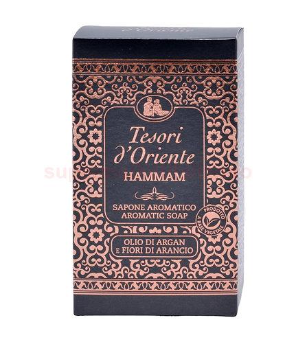 Sapun solid Tesori d'Oriente Hammam cu ulei de argan si flori de Portocal 150 g