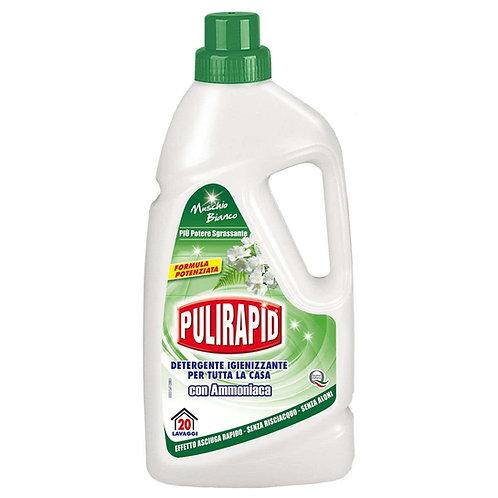 Detergent Pardoseli Pulirapid - Musc Alb cu Amoni,1Lac,