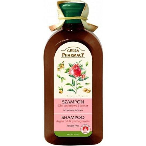 """GREEN PHARMACY-Șampon pentru păr uscat """"Ulei de argan și rodie"""""""
