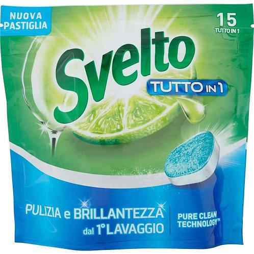Svelto Detergent solid pentru masina de spalat vase - 15 utilizari - tutto in 1
