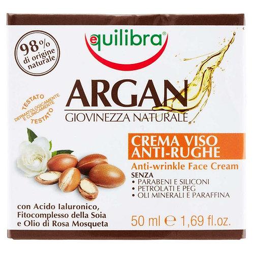 Crema anti rid Equilibra Argan tinerete naturala 50ml