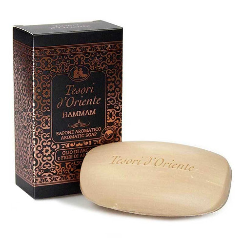 Săpun solid Tesori d'Oriente Hammam cu Ulei de Argan și Flori de Portocal 150 g