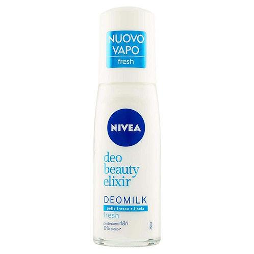 Deodorant spray Nivea Deomilk Fresh pentru piele proaspata si neteda 48h, 75 ml
