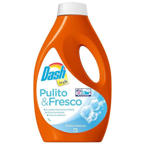 Detergent lichid rufe universal Dash Pulito&Fresco 18 spalari 990 ml