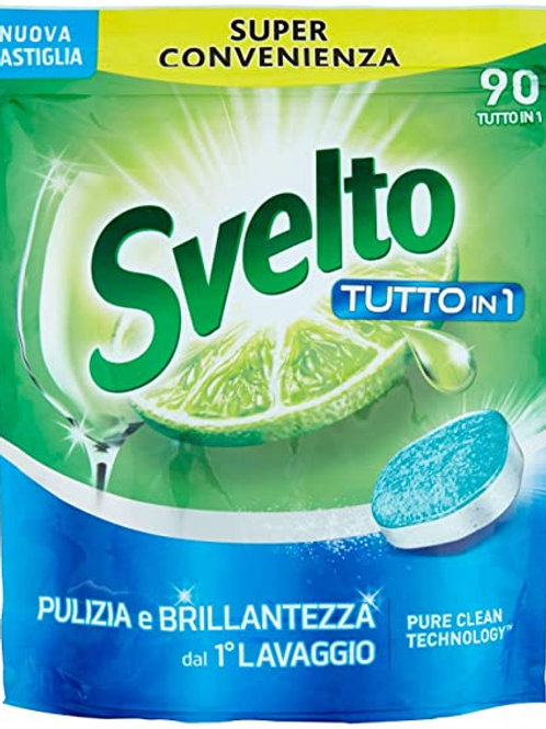 Svelto Detergent solid pentru masina de spalat vase - 90 utilizari - tutto in 1