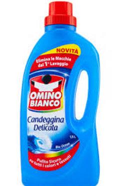 Solutie pentru pete cu clor Omino Bianco blu ocean 1,5 L