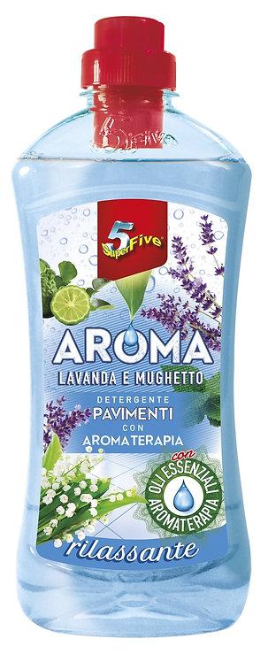 Detergent de pardoseli,Aroma, levantica si lacramioare 900MLE