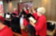 St. Hugh Episcopal church choir Elgin singing