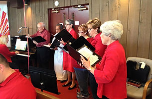St. Hugh Episcopal church choir Elgin singing
