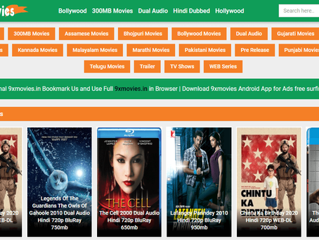 9xmovies - HD Bollywood, Hollywood, and Hindi Dubbed Movies Download Website