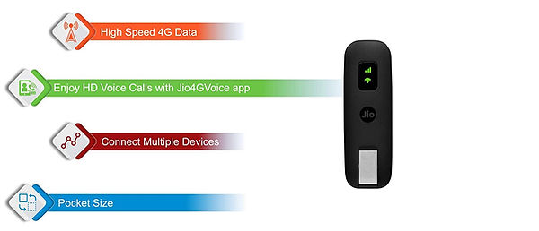 JioFi JDR740 (Dongle) 150Mbps Wireless 4